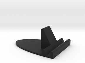 Rounded Ipad Mini Stand in Black Natural Versatile Plastic