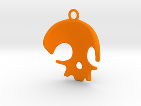 Skull in Orange Processed Versatile Plastic