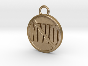 Anti NWO in Polished Gold Steel