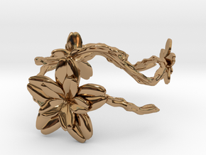 Flower Bracelet in Polished Brass