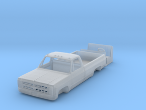 1/64 1980's Chevy K20 / K30 pickup truck body with in Smooth Fine Detail Plastic