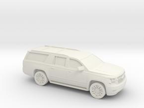 1/87 2015 Chevrolet Suburban in White Natural Versatile Plastic