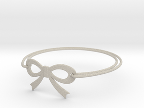Bow Bracelet in Natural Sandstone