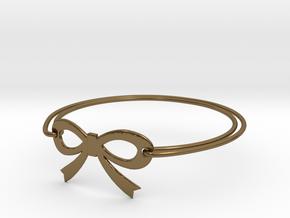 Bow Bracelet in Polished Bronze