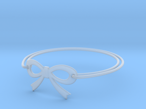 Bow Bracelet in Smooth Fine Detail Plastic