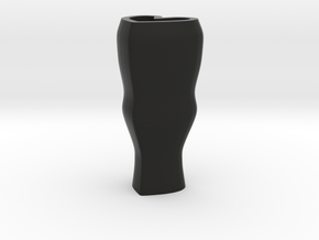 Heart flower vase - black in Black Natural Versatile Plastic
