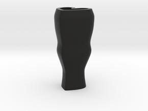 Heart flower vase - black in Black Strong & Flexible
