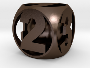 Crazy Dice in Polished Bronze Steel