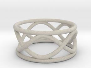 Infinity Ring- Size 8  (25% Taller)  in Natural Sandstone