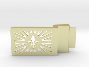 Fleur De Lis Belt Buckle in 18k Gold
