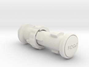 Fidget Keychain in White Natural Versatile Plastic