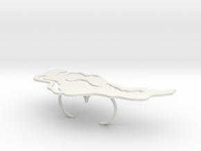 Irisa Double in White Natural Versatile Plastic