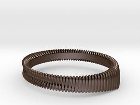 Springring (Japan 13,America 7,Britain N) in Polished Bronze Steel