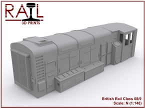 N Scale Class 08/9 in Smoothest Fine Detail Plastic