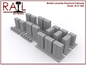 N Scale Lineside Electrical Cabinets in Smoothest Fine Detail Plastic