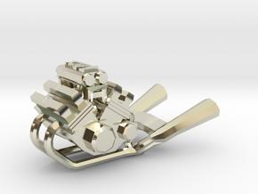 Yamaha Vmax engine keychain in 14k White Gold
