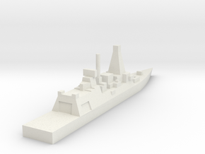 Royal Navy Type 45 Destroyer (Detailed) in White Natural Versatile Plastic