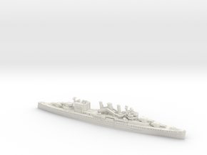 1/1800 HMS Cornwall [1942] in White Natural Versatile Plastic
