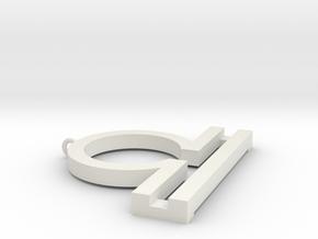 Terezi Pendant in White Natural Versatile Plastic