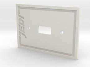 Jedi Light Switch Plate in White Natural Versatile Plastic
