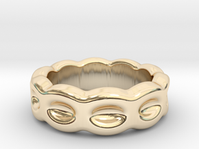 Funny Ring 14 - Italian Size 14 in 14k Gold Plated Brass