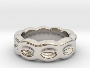 Funny Ring 20 - Italian Size 20 in Rhodium Plated Brass