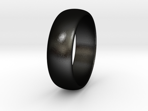 Hugo - Ring in Matte Black Steel: 7.75 / 55.875