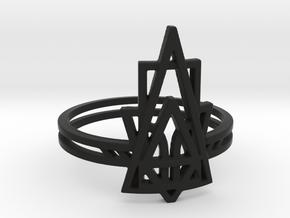 Viridiana Ring in Black Natural Versatile Plastic: 6 / 51.5
