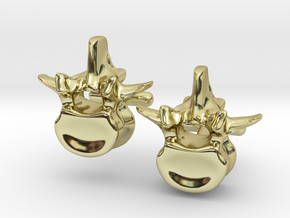 Lumbar Vertebra Cufflinks - Uninscribed in 18K Gold Plated
