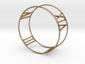 Roman Bracelet in Polished Gold Steel