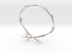Ivy Bracelet in Rhodium Plated Brass