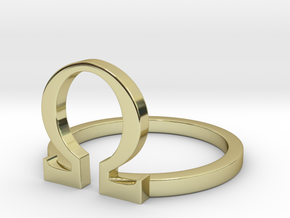 Omega ring in 18k Gold Plated Brass