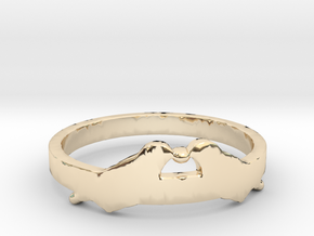 Love Birds Ring Size 7.5 in 14k Gold Plated Brass