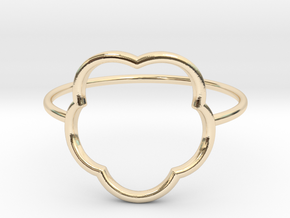 Inner flower ring - size 6 US in 14K Yellow Gold