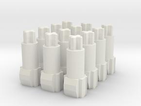 Apple IIe Keyboard - SMK Long Stem (set of 12) in White Natural Versatile Plastic