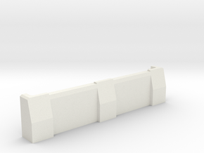 "5"" Ballistic Barrier in White Natural Versatile Plastic"