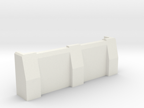 "3"" Ballistic Barrier in White Natural Versatile Plastic"
