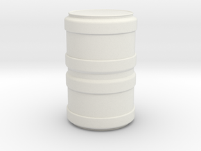 Modern/Sci-Fi Barrel in White Natural Versatile Plastic