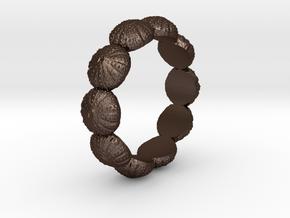 Urchin Ring 1 - US-Size 13 (22.33 mm) in Matte Bronze Steel
