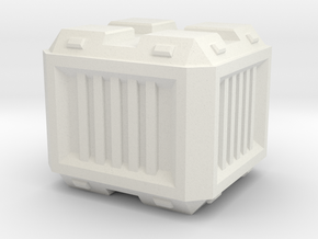 Modern/Sci-fi Small Crate in White Natural Versatile Plastic
