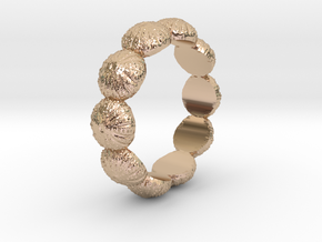 Urchin Ring 1 - US-Size 12 (21.49 mm) in 14k Rose Gold Plated Brass