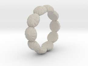 Urchin Ring 1 - US-Size 9 1/2 (19.41 mm) in Natural Sandstone