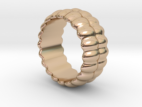 Mirror Ring 20 - Italian Size 20 in 14k Rose Gold Plated Brass