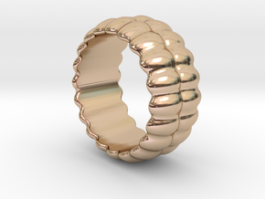 Mirror Ring 21 - Italian Size 21 in 14k Rose Gold Plated Brass