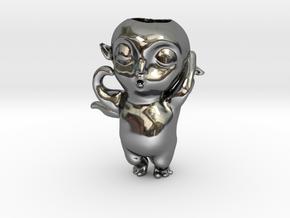 Monster Hunt Planter,怪物狩猎 in Fine Detail Polished Silver