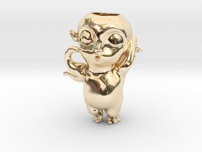 Monster Hunt Planter,怪物狩猎 in 14k Gold Plated Brass