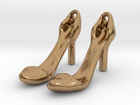 Classic Heels Earrings No. 1 - Size 1 in Polished Brass