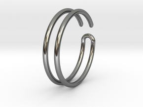 LoopingRing in Fine Detail Polished Silver
