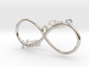 Infinity (Personalize) in Rhodium Plated Brass