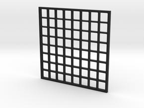 Wordclock Pixel Guard in Black Natural Versatile Plastic